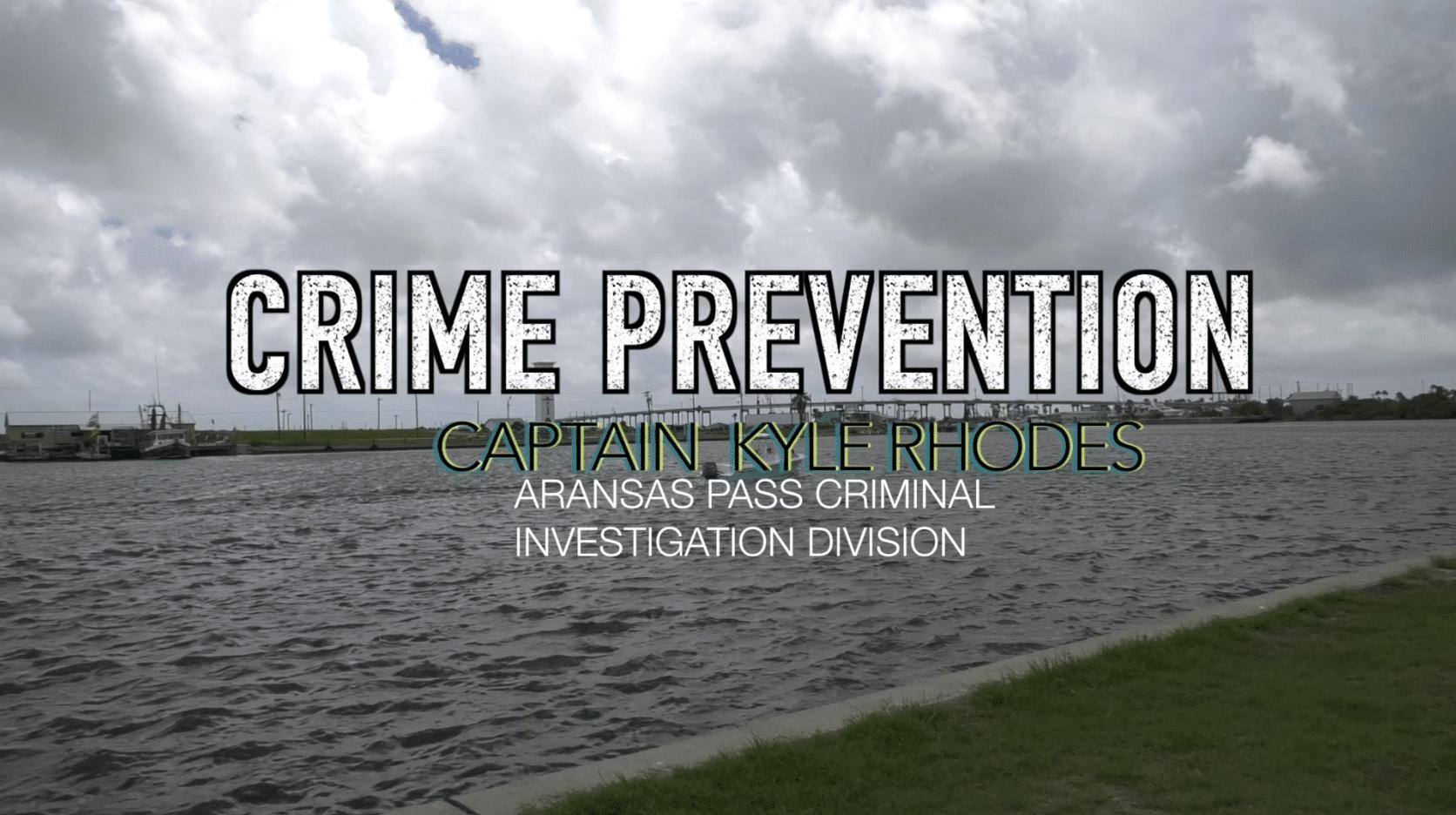 Capt. Rhodes discusses property crime prevention tips.