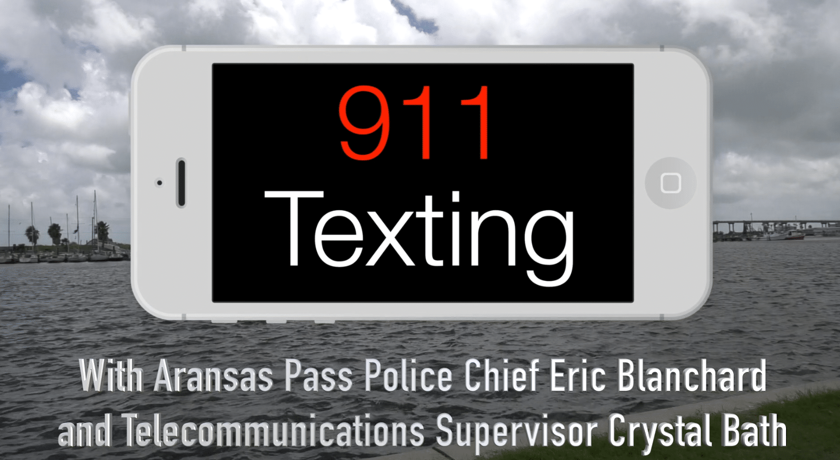 Chief Blanchard and STCO Crystal Bath discuss sending text messages to 911.